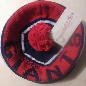 Mitchell & Ness Giants cuffless knit hat